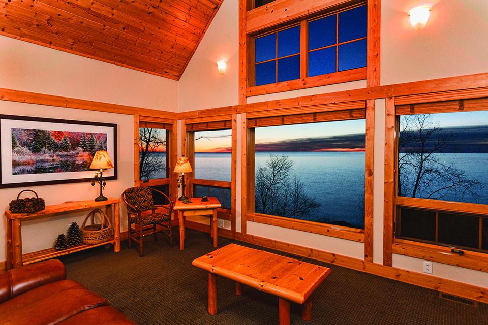 interior w_lake through window