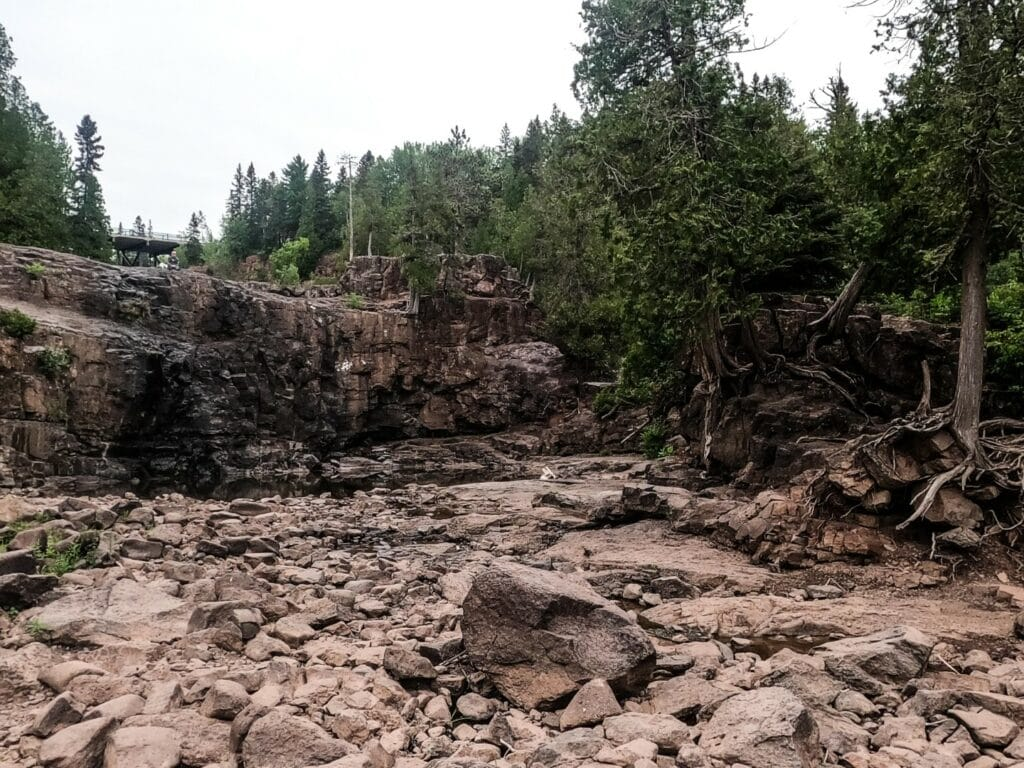 Western Portion of Lower Gooseberry Falls