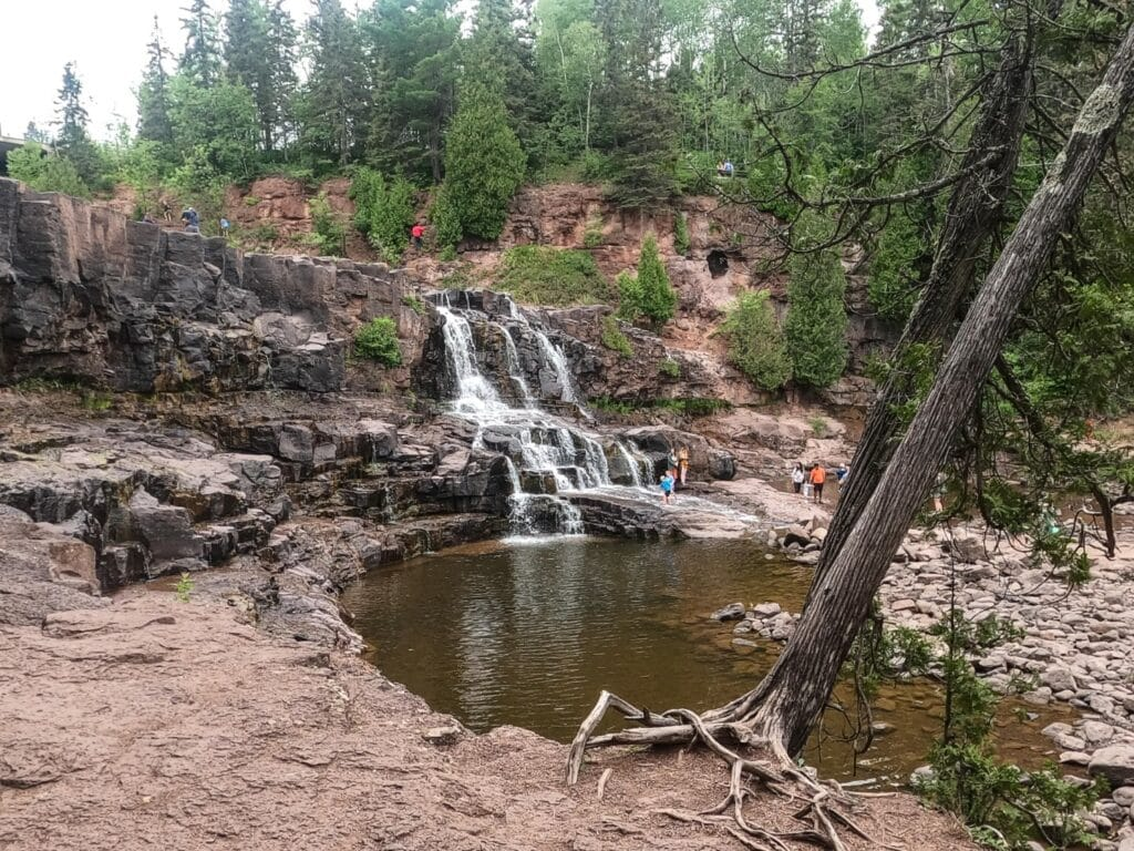 The Middle Falls at Gooseberry Falls